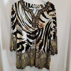Animal Print Blouse sz LG